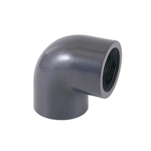 Codo PVC 90 encolar roscar hembra hembra