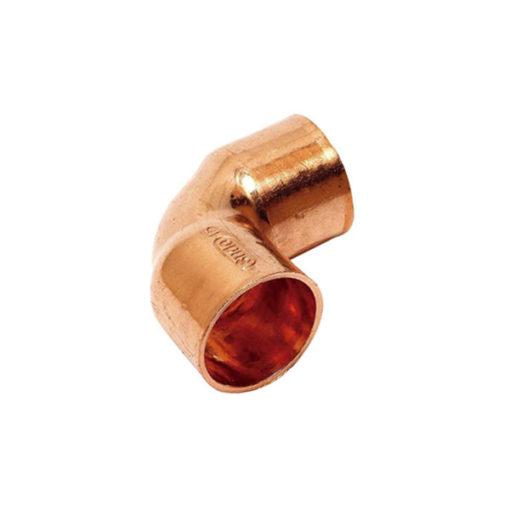 Codo 90 cobre soldar hembra hembra