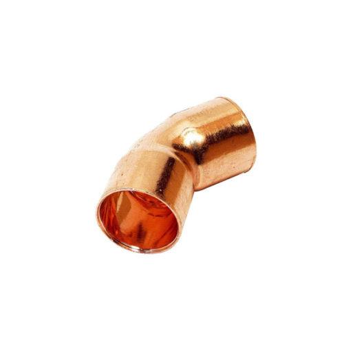 Curva 45 cobre soldar hembra hembra