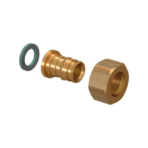 Racor 2 piezas latón Uponor Q&E-roscar H-H