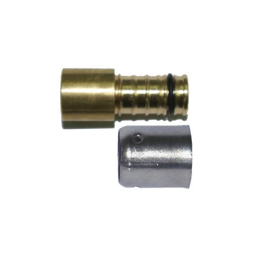Racor transición latón-inox Cabel press-fitting-soldar H-H