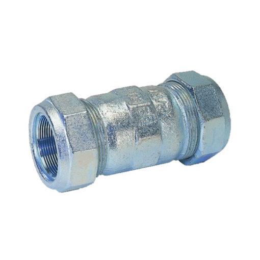 Manguito unión tubo acero hembra
