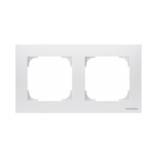 Niessen-Sky-marco-2-elementos-blanco