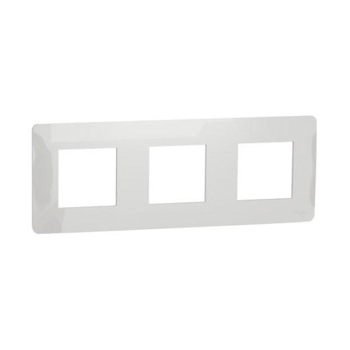 Schneider-new-unica-marco-3-elementos-blanco