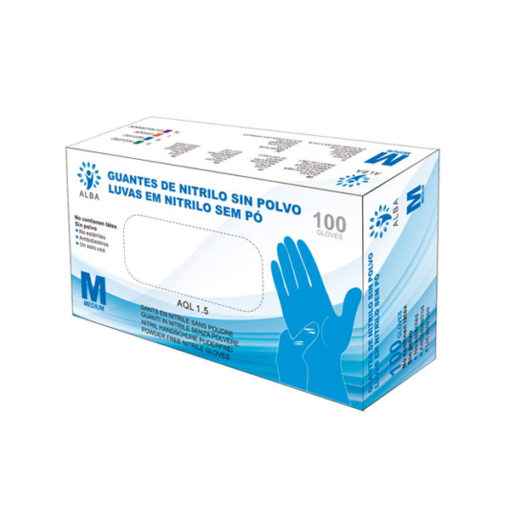 Caja 100 guantes nitrilo desechables